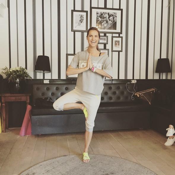 photo diary juni Glamour Health Challenge. yoga