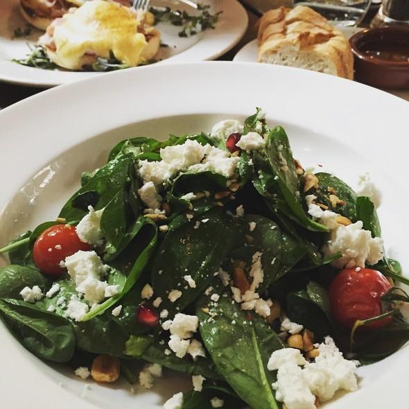 geitenkaas spinazie salade