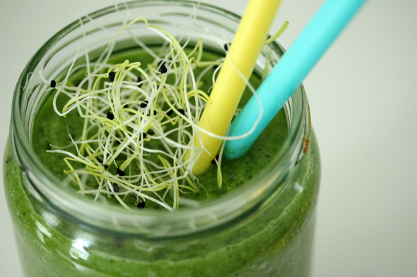 groene smoothie met prei kiemen