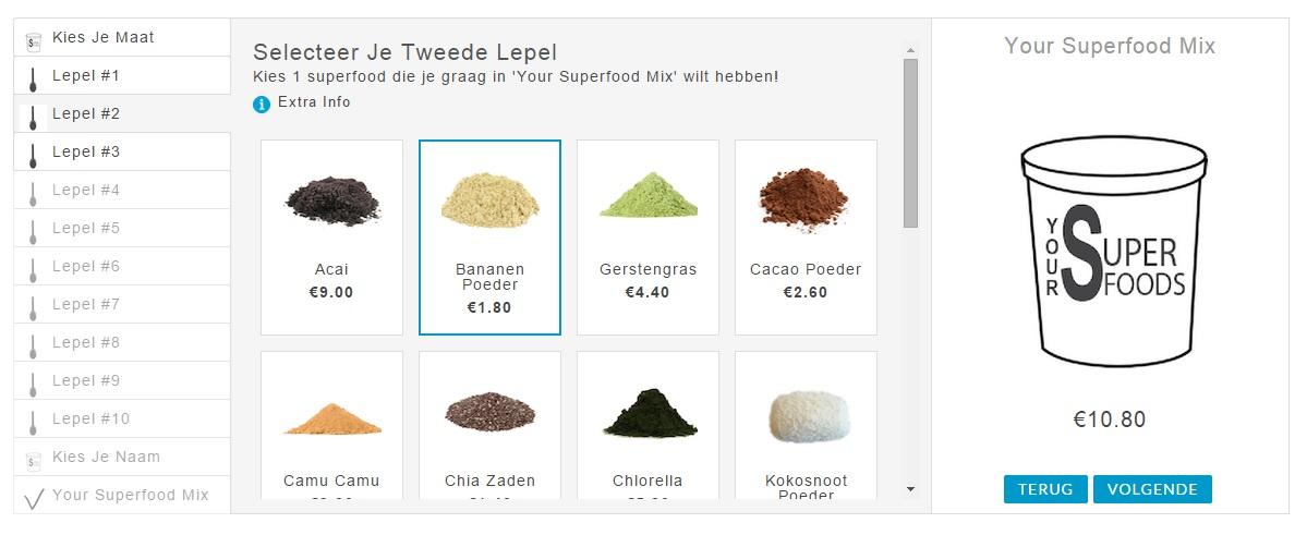 Yoursuperfoods.nl - mix je eigen superfood mix