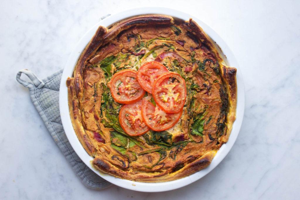 vegan, guiche, gezond, hartige taart, Living The Green Life