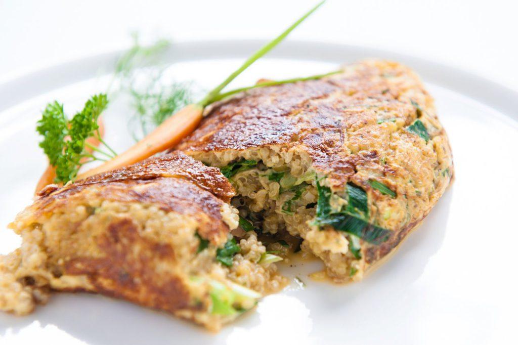 Quinoa omelet Nature Crops
