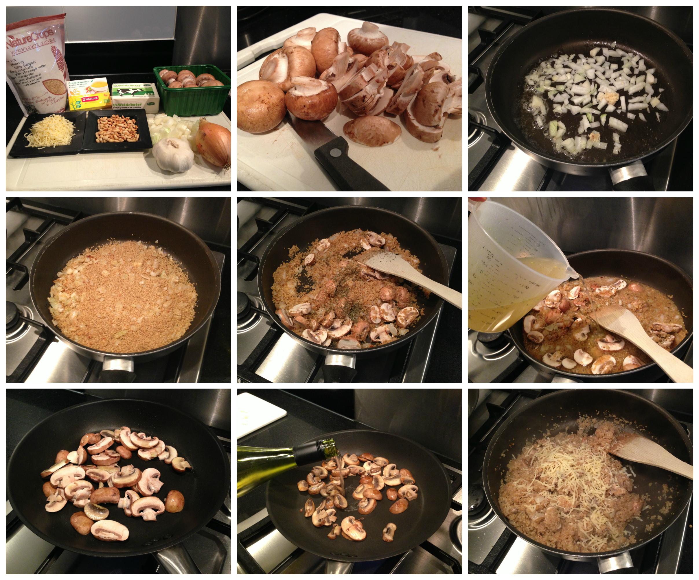 quinoa risotto collage