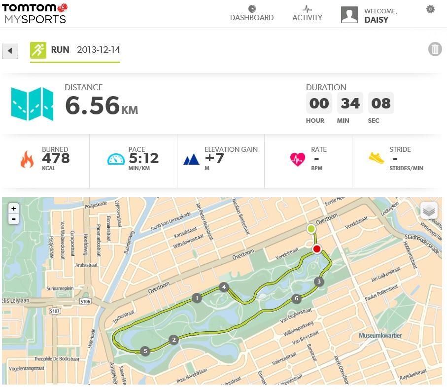 run results tomtom multisport