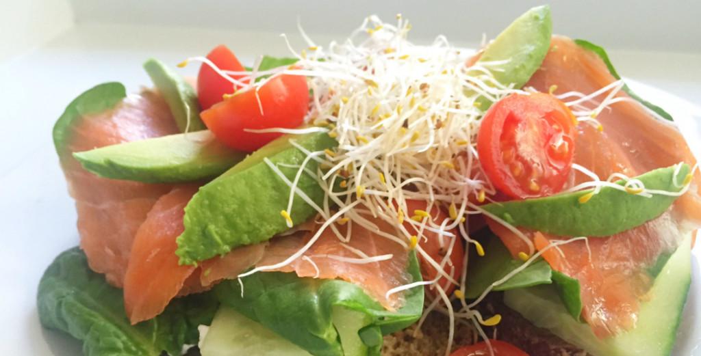 sandwich zalm, eiwitrijke recepten