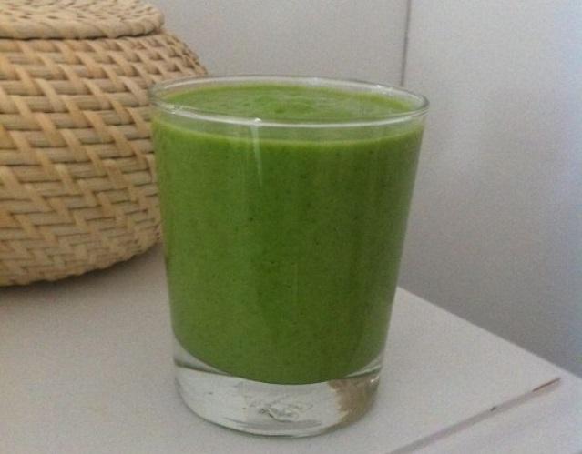 Gezonde groene smoothie uit eetdagboek