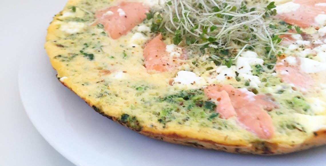 spinazie broccoli zalm omelet kiemen ul, vette vis cellulitis