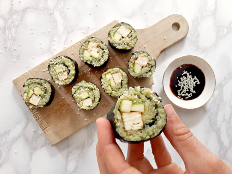 healthy sushi, vegan recepten