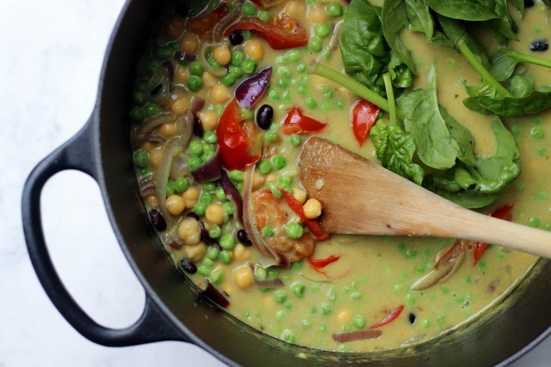 kikkererwten curry, living the green life