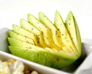 Heerlijke gesneden avocado