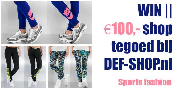 win €100,- shop tegoed bij defshop - def-shop.nl