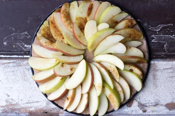 Glutenvrije en vegan appeltaart