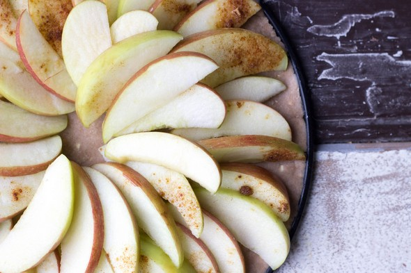 Glutenvrije en vegan appeltaart, gezonde toetjes