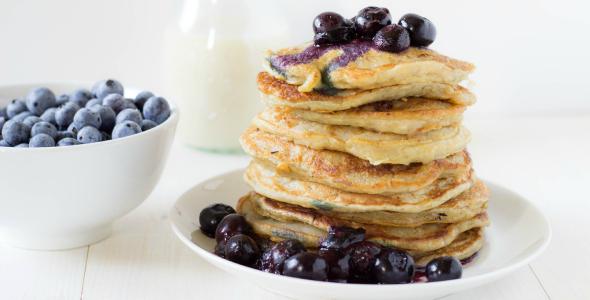 vegan pannenkoeken met bosbessen - i love health