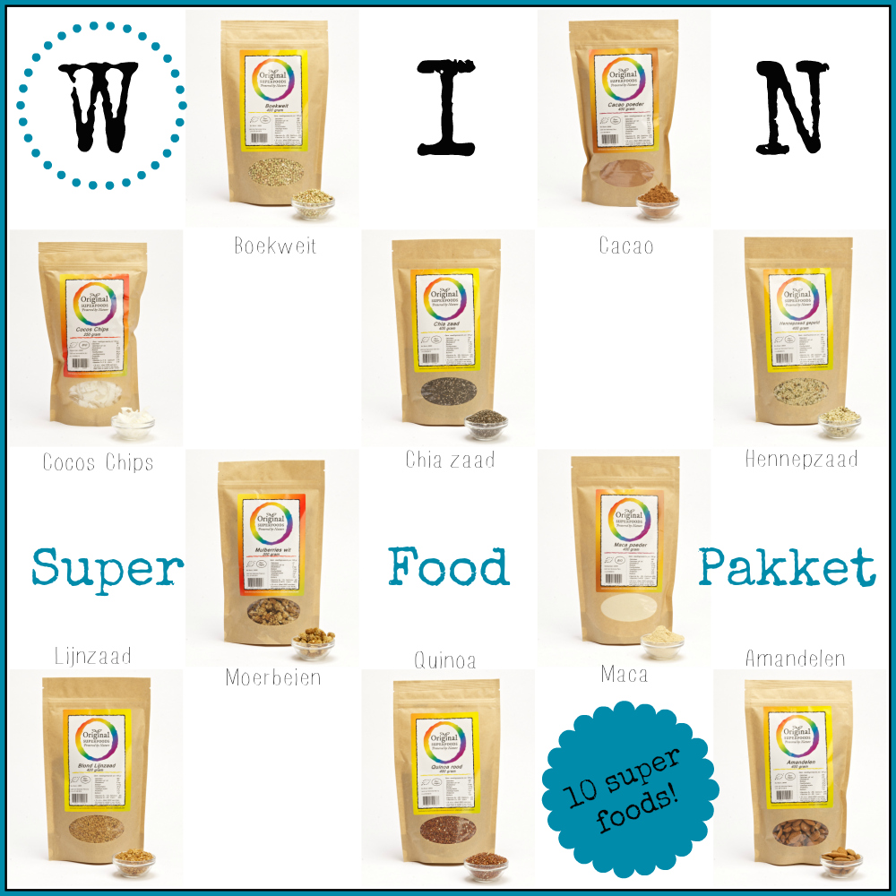 winactie superfood pakket  - superfood centre