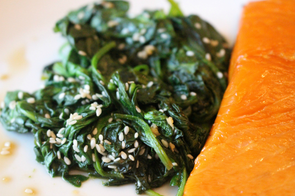 zalm en spinazie eetdagboek maaike furrow