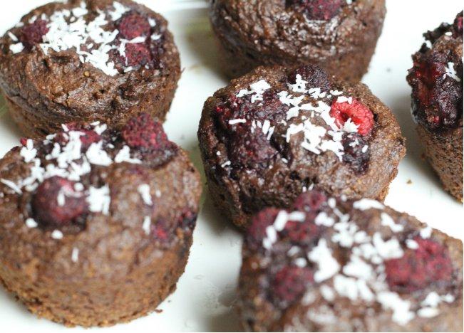 Glutenvrije, suikervrij choclade muffins, eetdagboek thebeautyassitant.nl